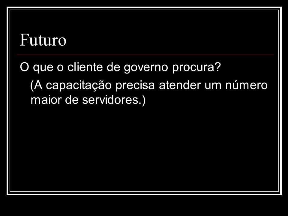Futuro O que o cliente de governo procura