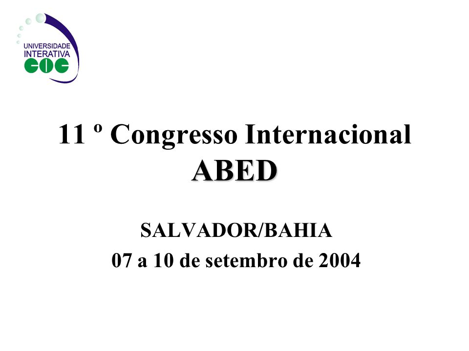 11 º Congresso Internacional ABED
