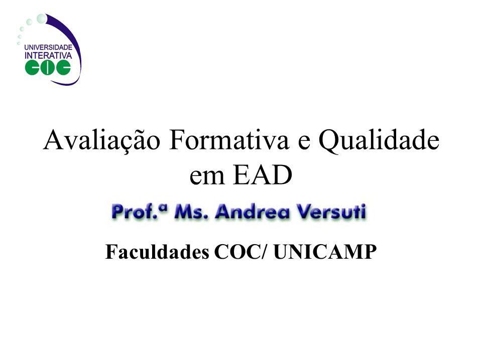 Avaliação Formativa e Qualidade em EAD
