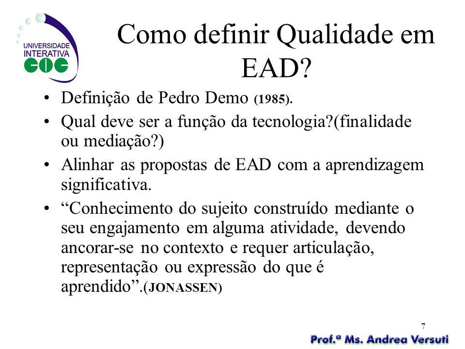 Como definir Qualidade em EAD