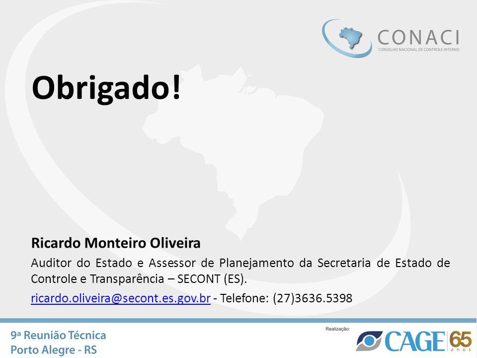 Obrigado! Ricardo Monteiro Oliveira