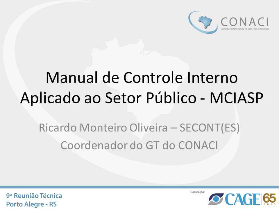 Manual de Controle Interno Aplicado ao Setor Público - MCIASP