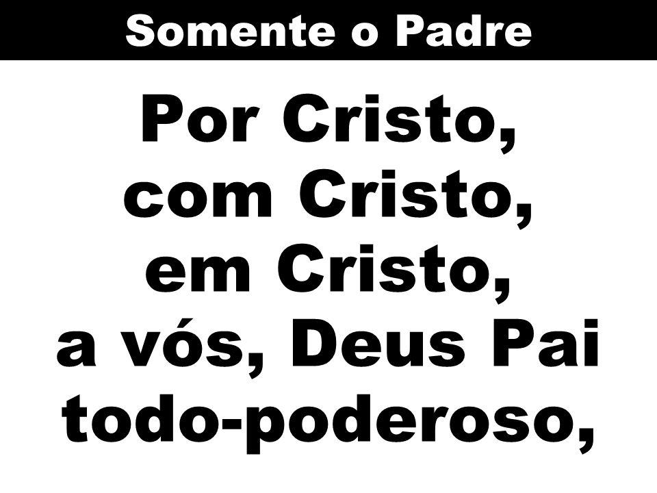Por Cristo, com Cristo, em Cristo, a vós, Deus Pai todo-poderoso,