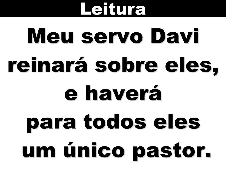 Leitura Meu servo Davi reinará sobre eles, e haverá para todos eles um único pastor.