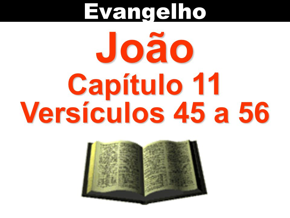Evangelho João Capítulo 11 Versículos 45 a 56