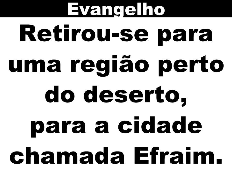 Evangelho Retirou-se para uma região perto do deserto, para a cidade chamada Efraim.
