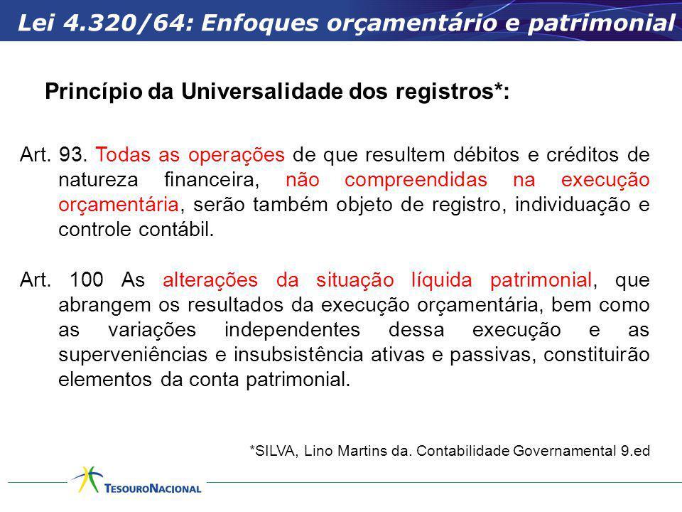 Lei 4.320/64: Enfoques orçamentário e patrimonial