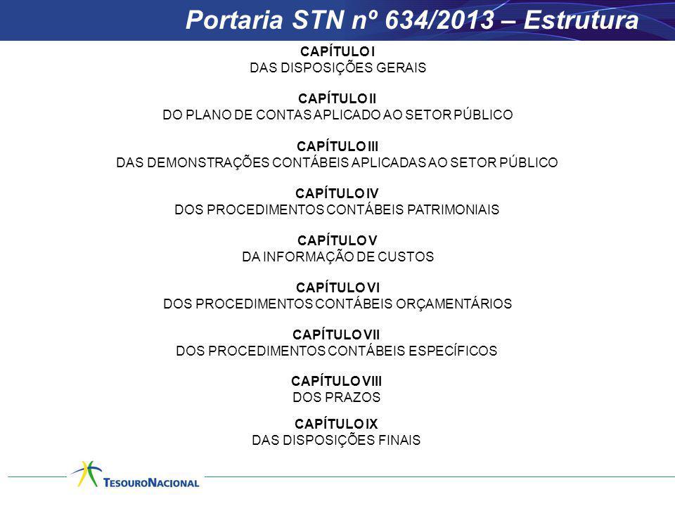 Portaria STN nº 634/2013 – Estrutura