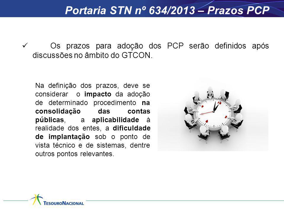 Portaria STN nº 634/2013 – Prazos PCP