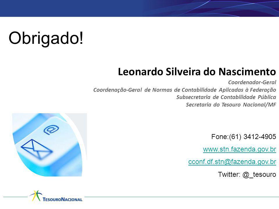 Obrigado! Leonardo Silveira do Nascimento Fone:(61) 3412-4905
