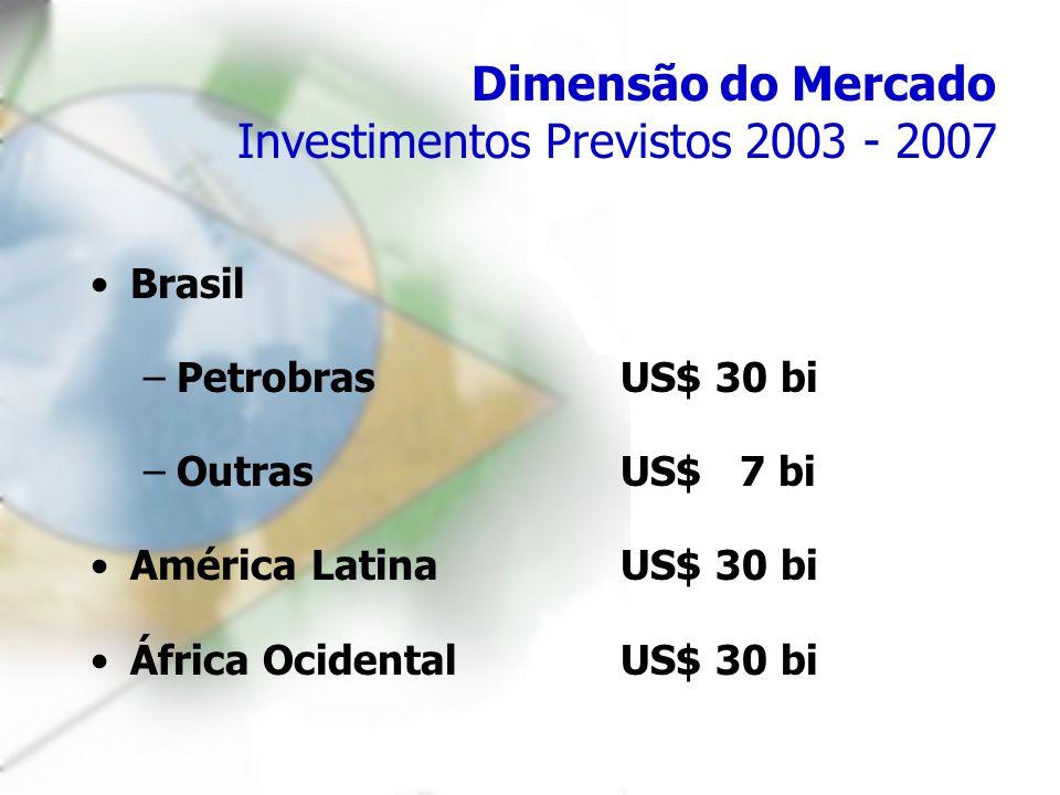 Dimensão do Mercado Investimentos Previstos 2003 - 2007