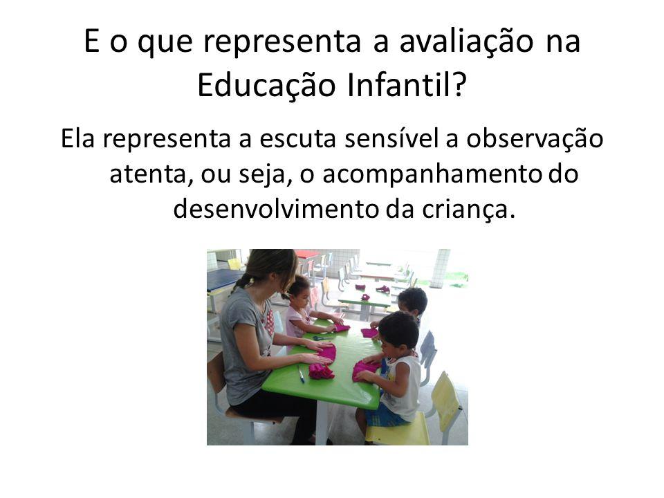 E o que representa a avaliação na Educação Infantil