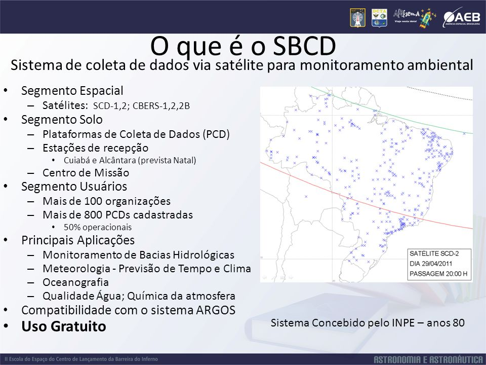 O que é o SBCD Sistema de coleta de dados via satélite para monitoramento ambiental. Segmento Espacial.