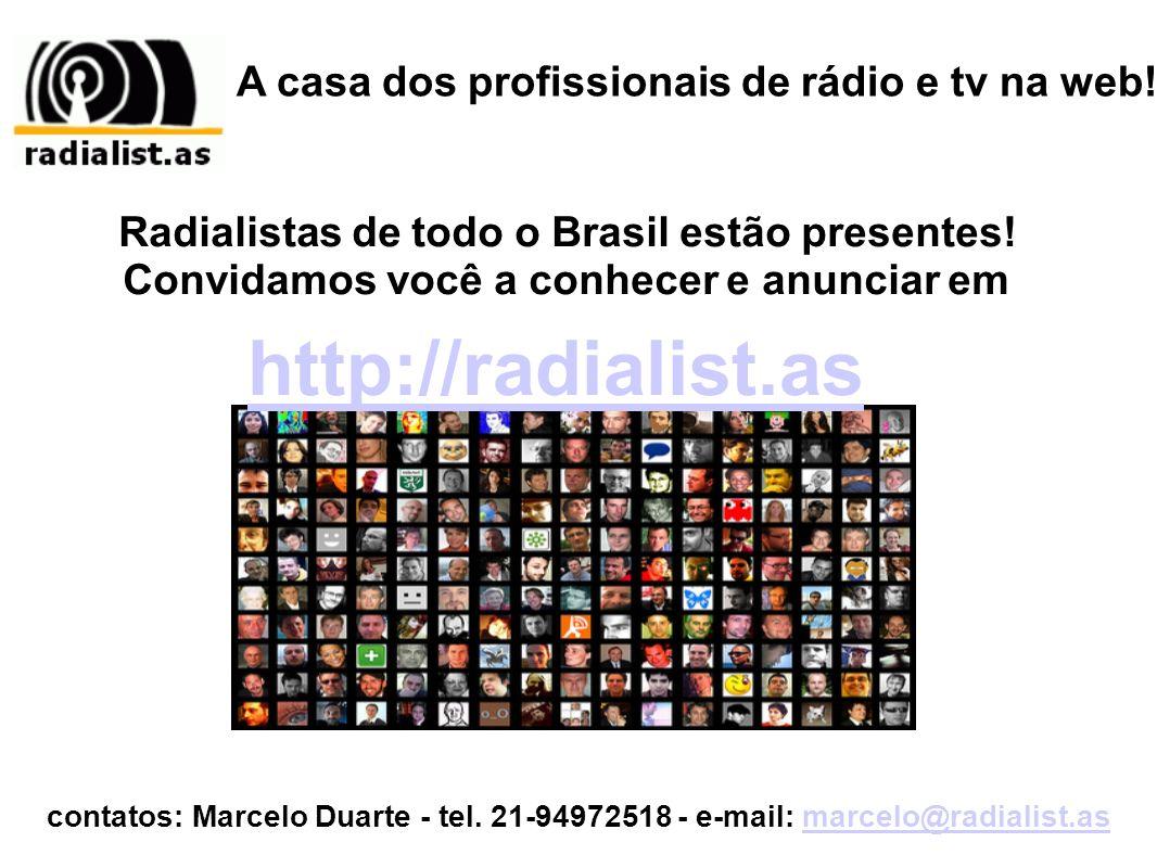 http://radialist.as A casa dos profissionais de rádio e tv na web!