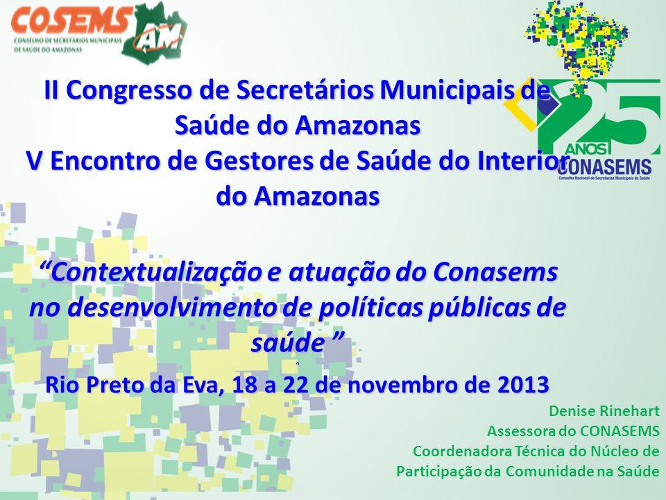 II Congresso de Secretários Municipais de Saúde do Amazonas