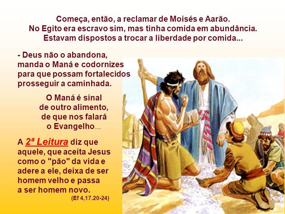 Começa, então, a reclamar de Moisés e Aarão.