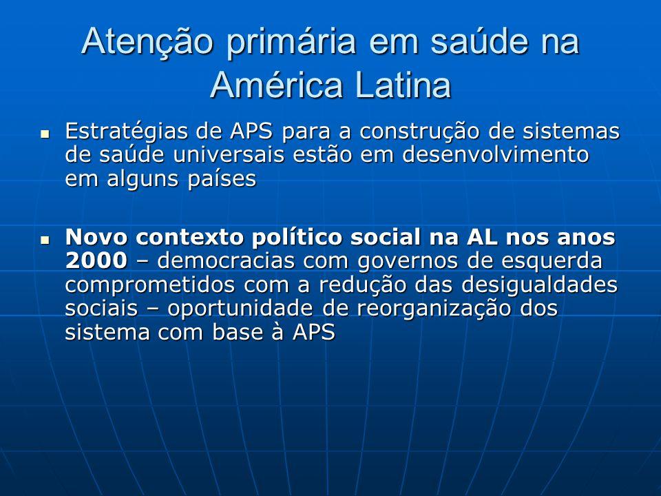 Atenção primária em saúde na América Latina