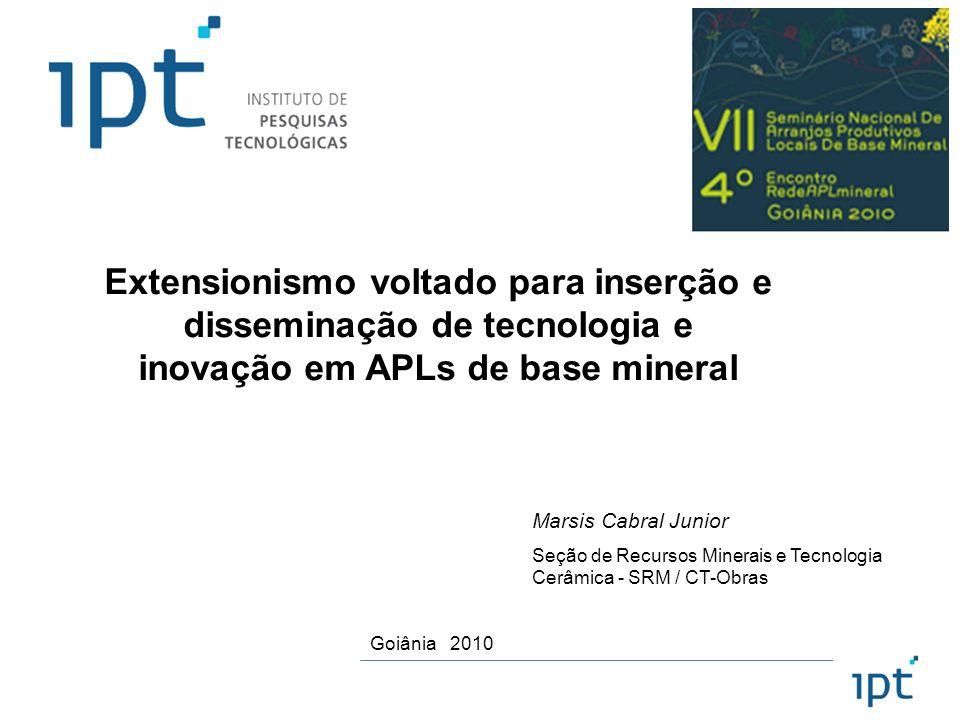 Extensionismo voltado para inserção e disseminação de tecnologia e inovação em APLs de base mineral