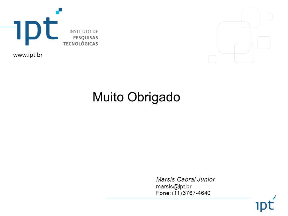 Muito Obrigado www.ipt.br Marsis Cabral Junior marsis@ipt.br