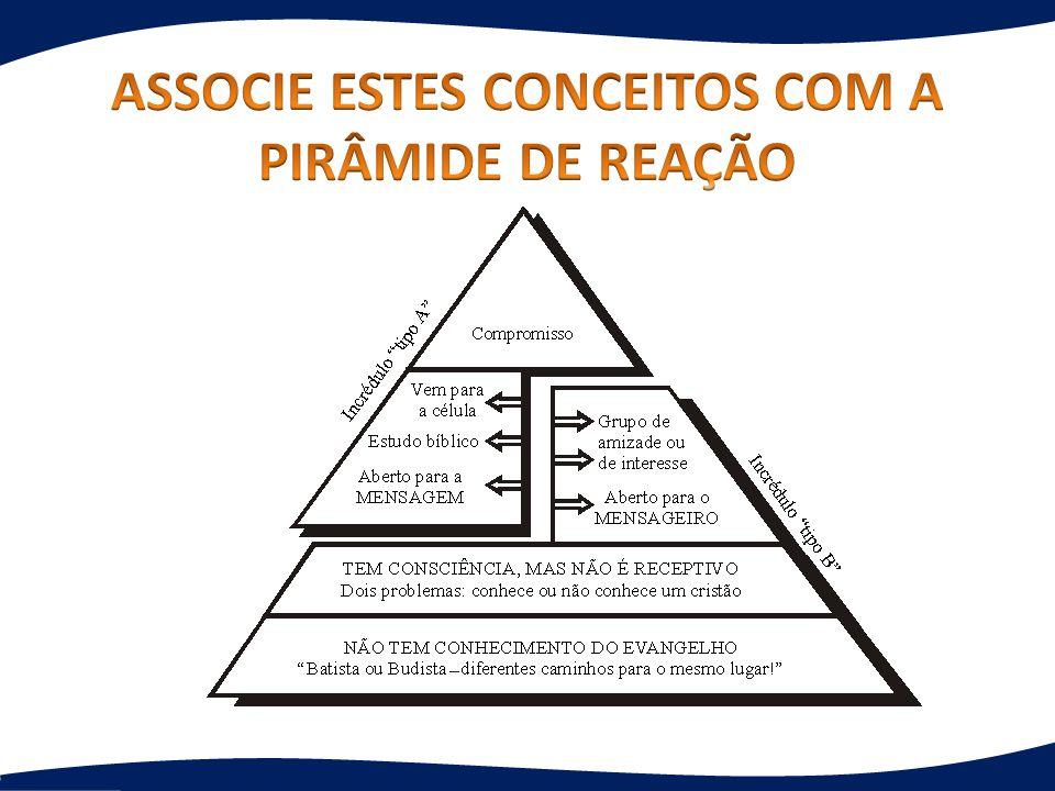 ASSOCIE ESTES CONCEITOS COM A PIRÂMIDE DE REAÇÃO