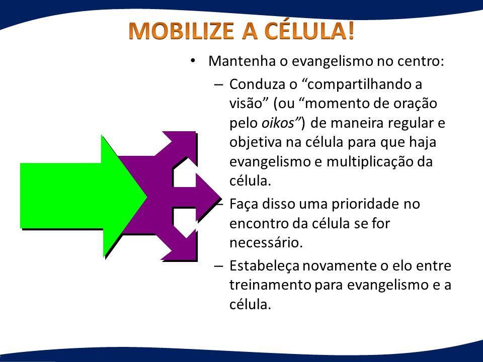 MOBILIZE A CÉLULA! Mantenha o evangelismo no centro: