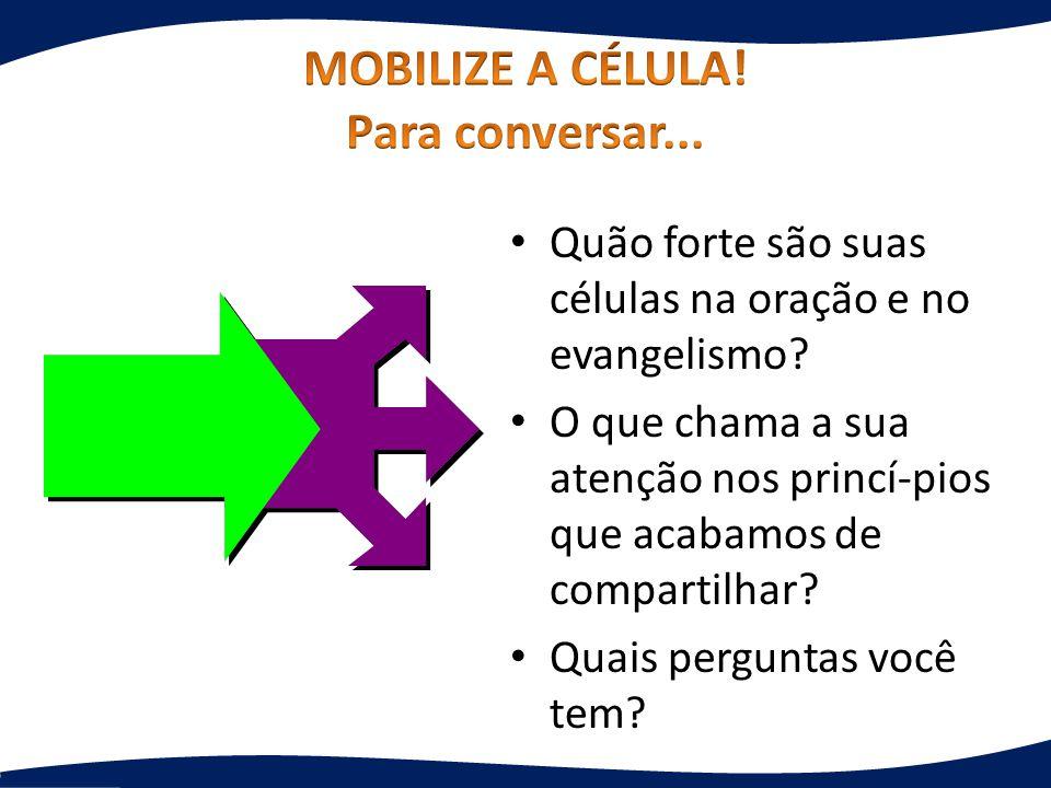 MOBILIZE A CÉLULA! Para conversar...