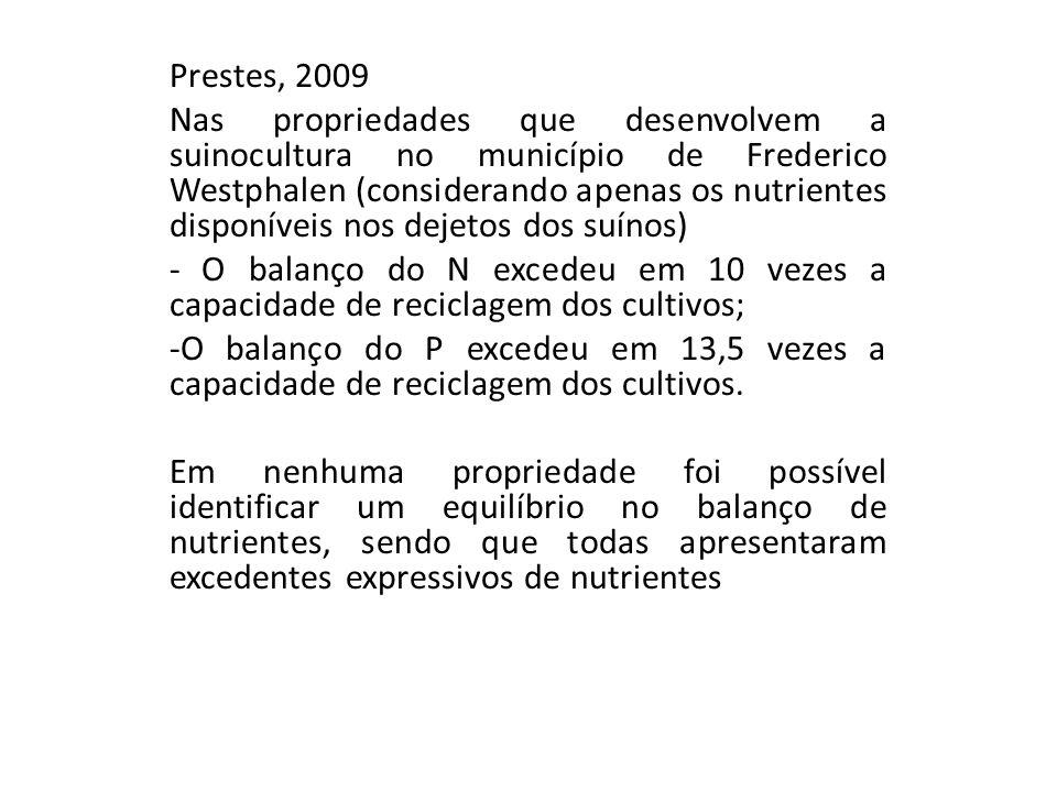Prestes, 2009