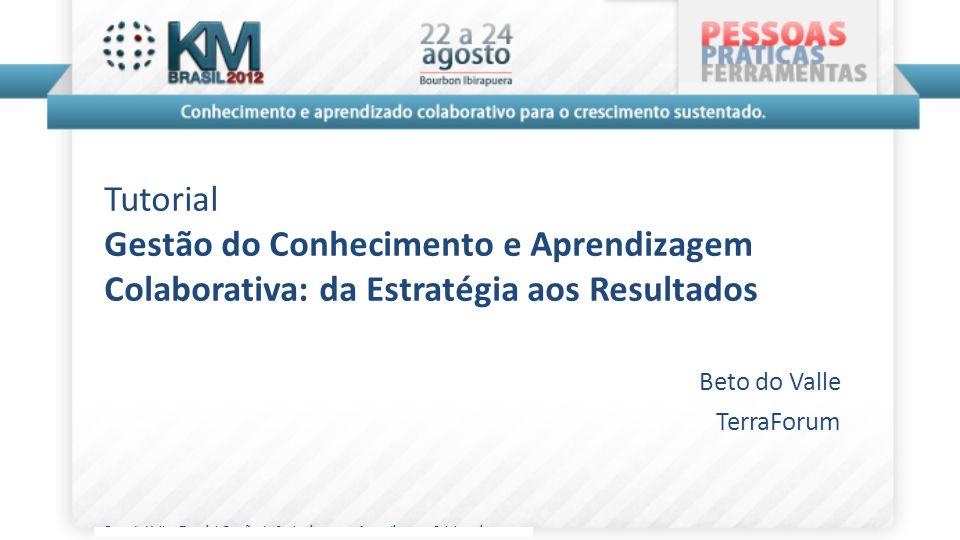 Tutorial Gestão do Conhecimento e Aprendizagem Colaborativa: da Estratégia aos Resultados