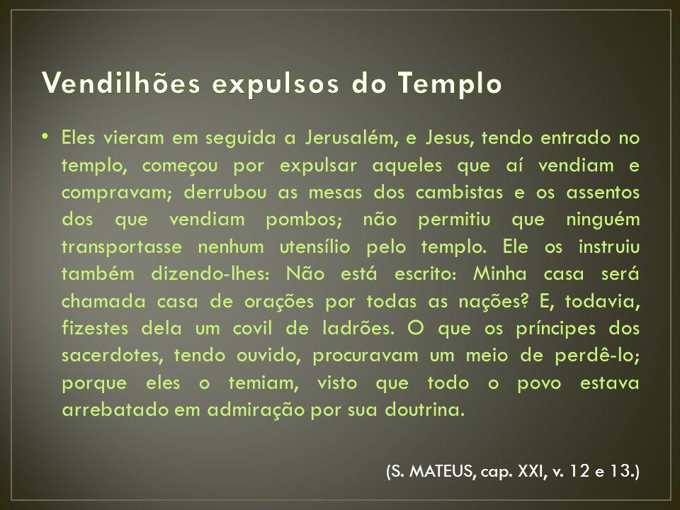 Vendilhões expulsos do Templo