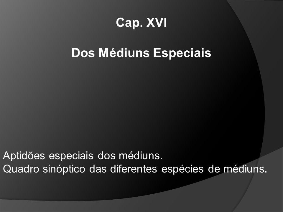 Cap. XVI Dos Médiuns Especiais