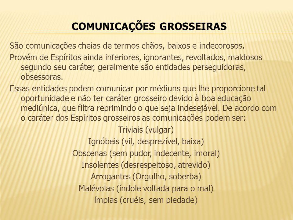 COMUNICAÇÕES GROSSEIRAS