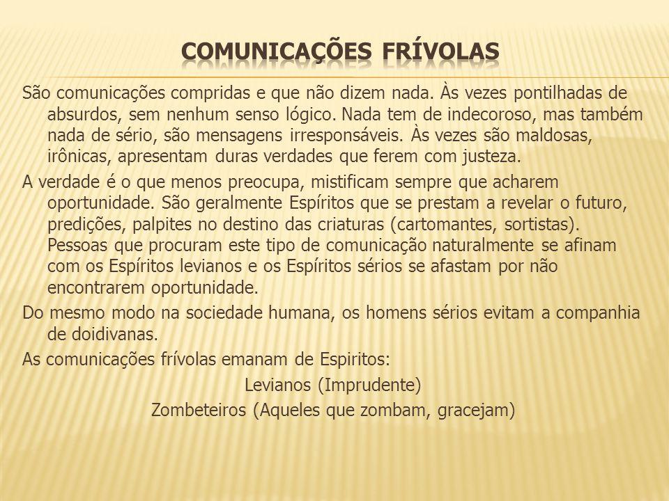 COMUNICAÇÕES FRÍVOLAS