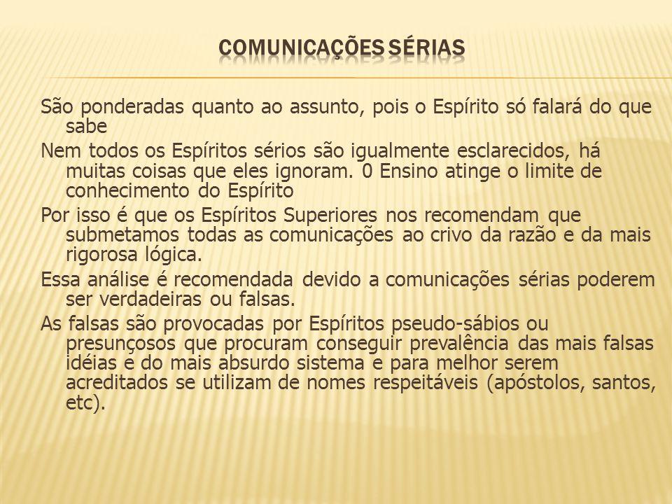COMUNICAÇÕES SÉRIAS