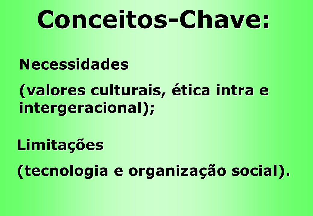 Conceitos-Chave: Necessidades