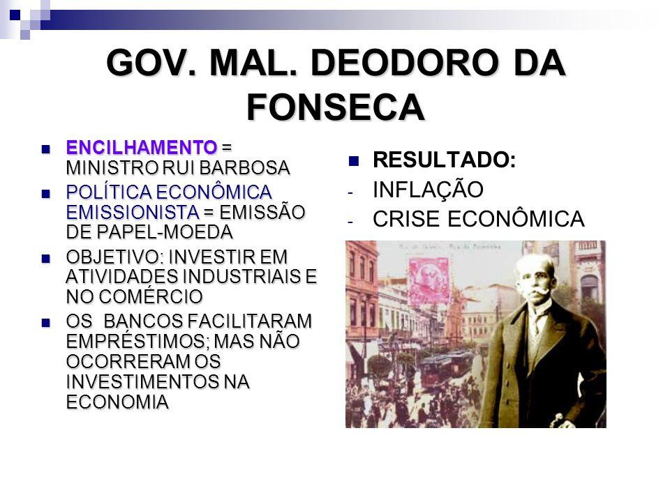 GOV. MAL. DEODORO DA FONSECA