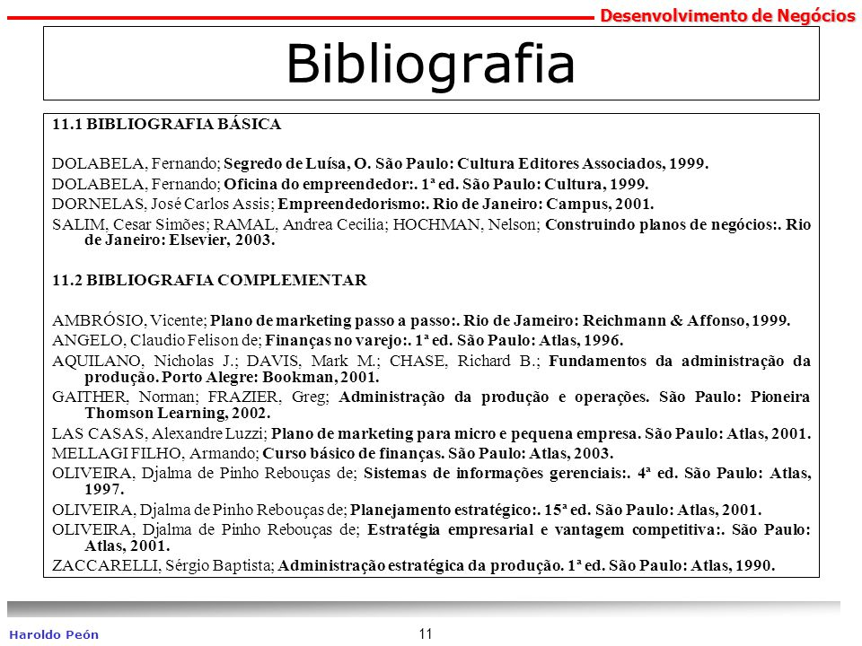 Bibliografia 11.1 BIBLIOGRAFIA BÁSICA