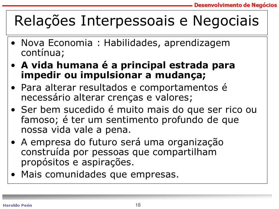 Relações Interpessoais e Negociais