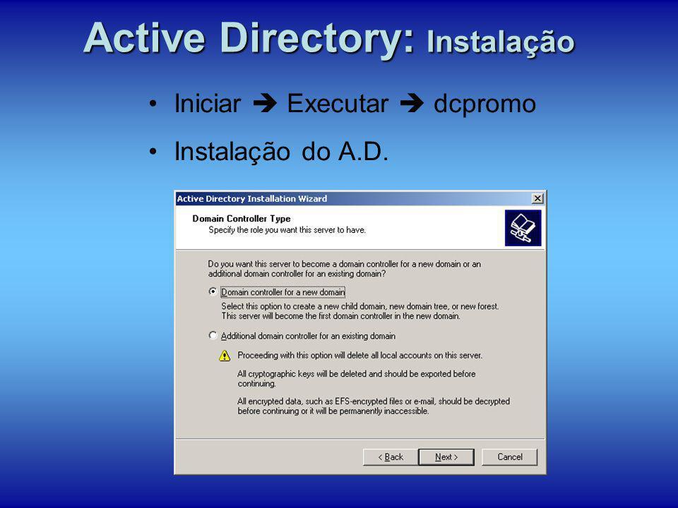 Active Directory: Instalação