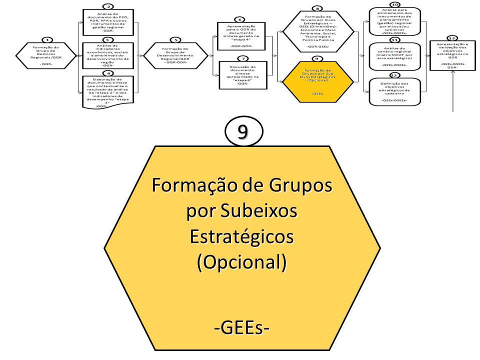 Formação de Grupos por Subeixos Estratégicos