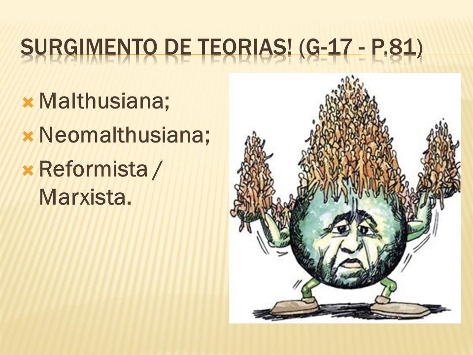 Surgimento de teorias! (g-17 - p.81)