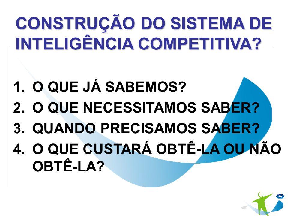 CONSTRUÇÃO DO SISTEMA DE INTELIGÊNCIA COMPETITIVA