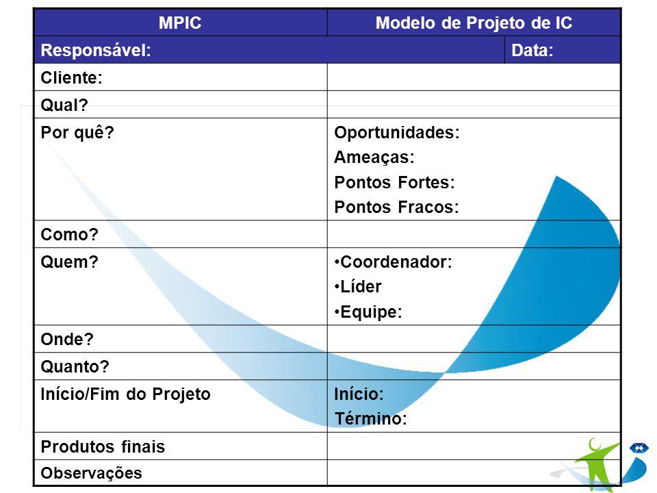 MPIC Modelo de Projeto de IC