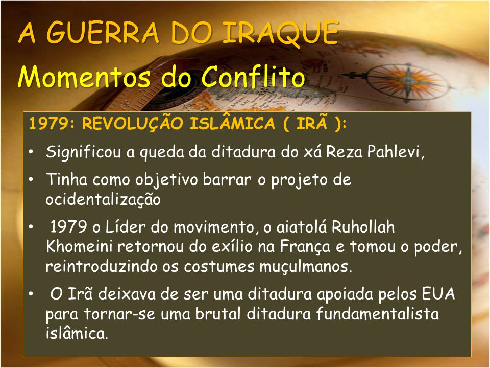 A GUERRA DO IRAQUE Momentos do Conflito