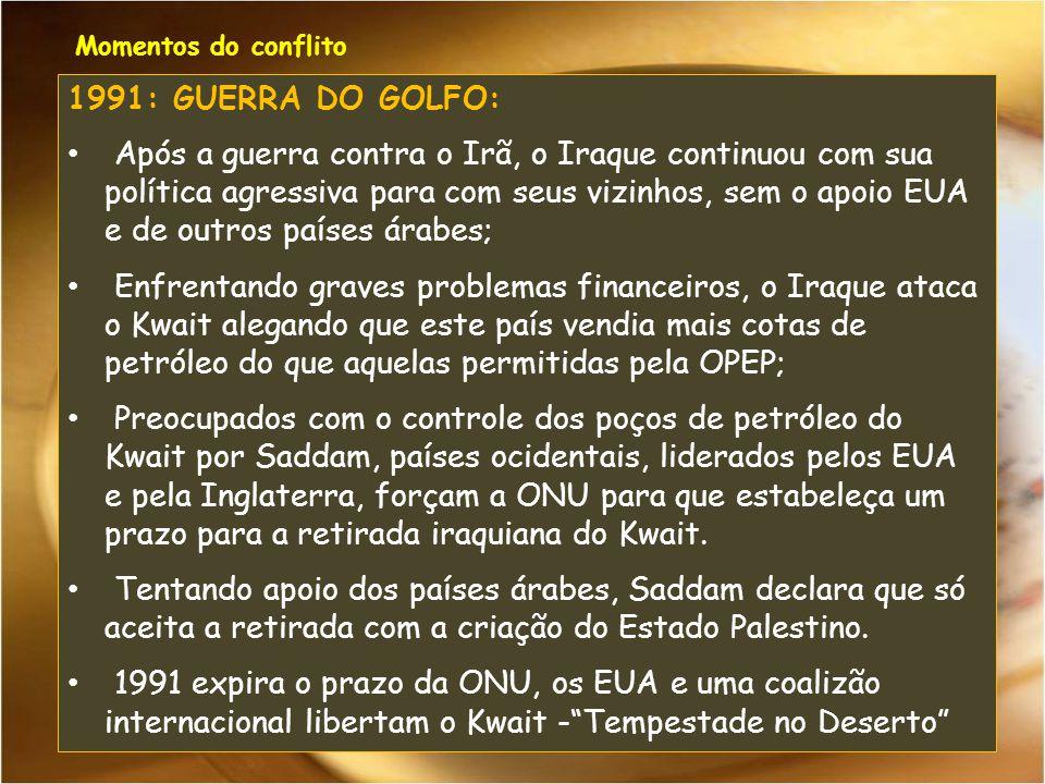 Momentos do conflito 1991: GUERRA DO GOLFO: