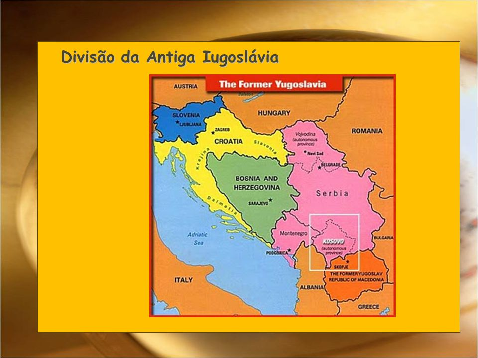 Divisão da Antiga Iugoslávia