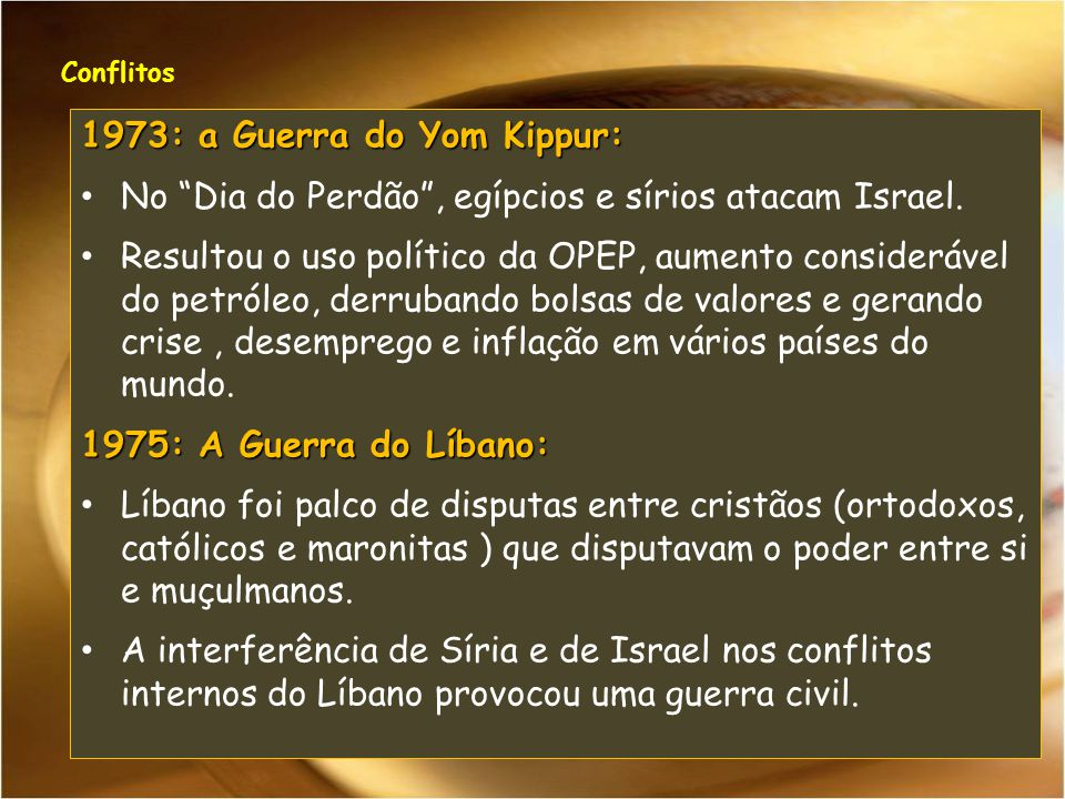 1973: a Guerra do Yom Kippur: