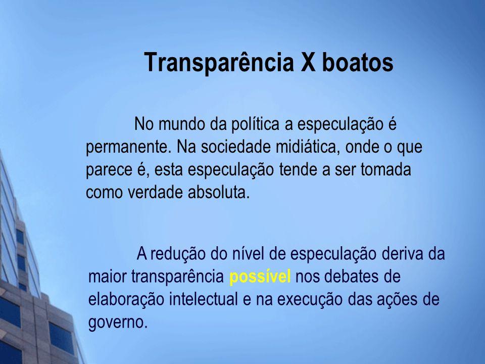 Transparência X boatos