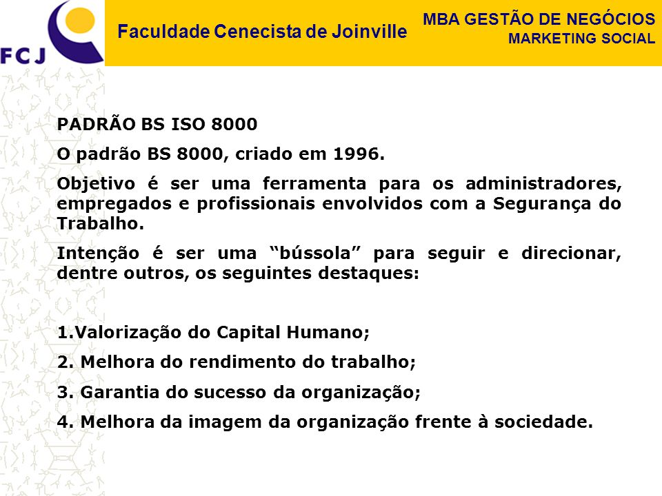 PADRÃO BS ISO 8000 O padrão BS 8000, criado em 1996.