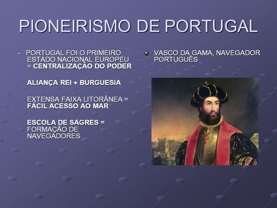 PIONEIRISMO DE PORTUGAL