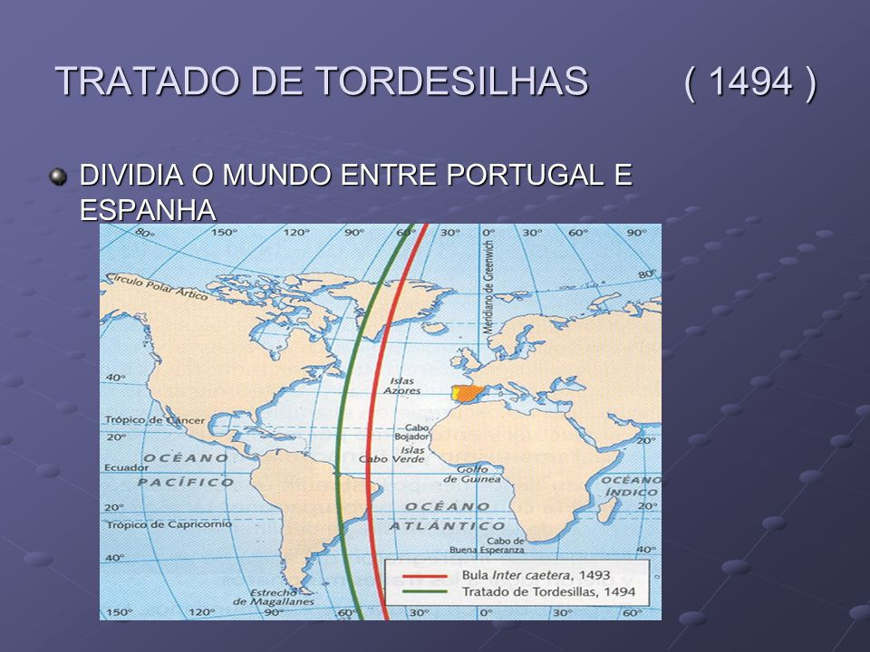 TRATADO DE TORDESILHAS ( 1494 )
